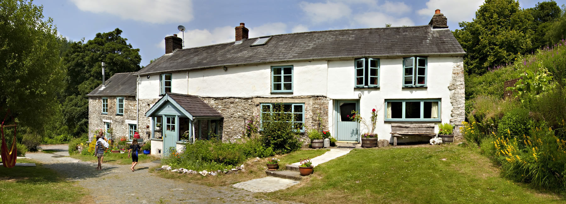 Penpynfarch farmhouse, based in amongst the woodland of the Gwyddil Valley