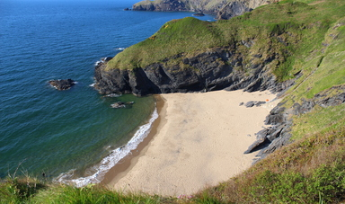 Beautiful beach in Ceredigion